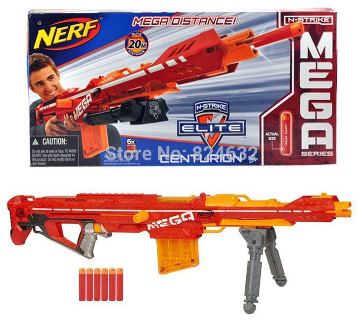 New Nerf Gun Sniper Toy NERF Mega Centurion Longshot Blaster Soft