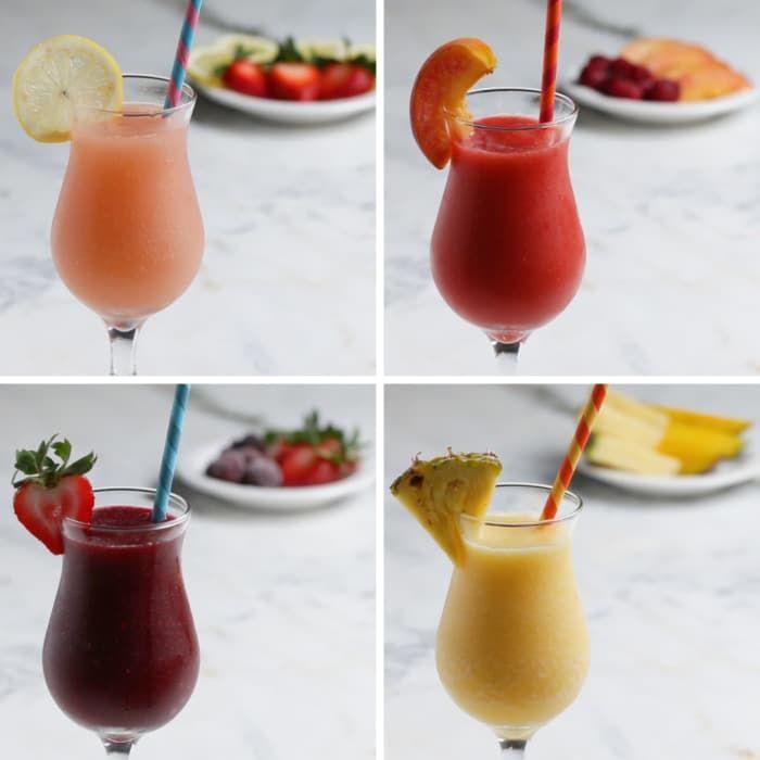 Summer Sangria 4 Ways. Watch video & recipes make way more sense, definitely trying this weekend...