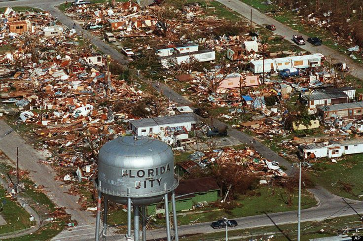 Hurricane Andrew aftermath in Florida City.