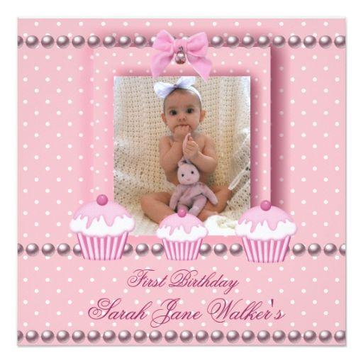 1860 best Baby Girls 1st Birthday Party Invitations images on - invitation for 1st birthday party girl