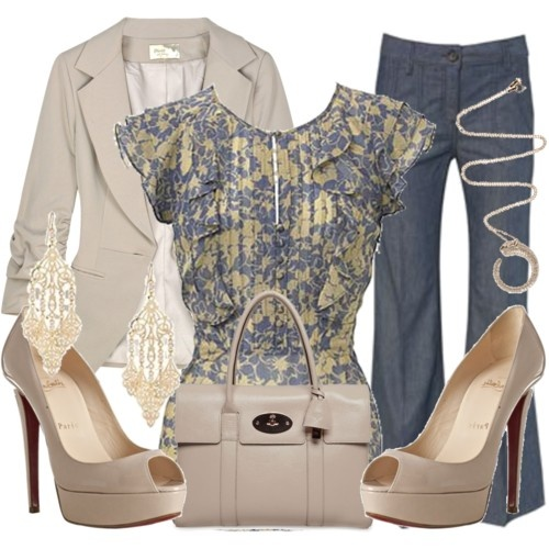 I wish we could wear jeans at work. This is the perfect professional yet casual outfit.