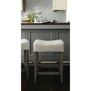 Rumford Linen Saddle 24 Quot Counter Stool Threshold