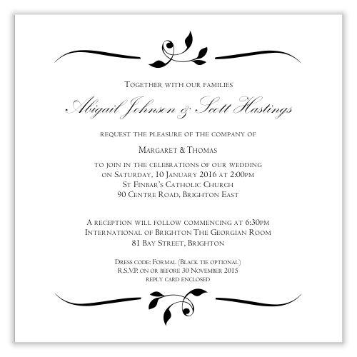 Calista Wedding Invitation Template