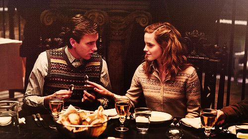 Hermione and Neville remind me so much of what we know of the friendship between Lily and Remus. Remus was very much the outsider and Lily the smart muggleborn who was always helping him when the rest rejected him.Halfblood Prince, Harry Freak, Emma Watson, Harrypotter, Freak Potter, Hermione Granger, Harry Potter, Neville Longbottom, Half Blood Prince