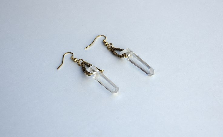Raw Quartz Crystal Point Earings https://www.etsy.com/listing/190340240/raw-quartz-crystal-point-earings?ref=shop_home_active_7