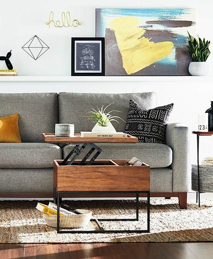 17 Trendy Coffee And Side Tables With Integrated Storage Coffee Table For Small Living Room Diy Storage Coffee Table Coffee Table Small Space