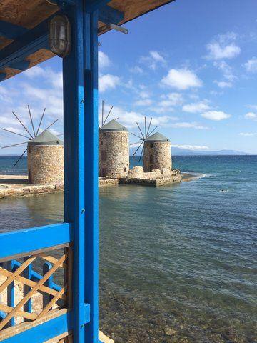 view from Chios island windmills   Φωτο-ανταπόκριση από Χίο μια ηλιόλουστη μέρα! #Windmils #Sunny #Day   #aegean #relax #horizon #walk #nature #environment #sea #beach #seashore #sky #blue #pintrplaces #sunset #port #place #Chios #island http://my.aegean.gr/gallery/Places/Greece/Chios/IMG_0144_a.JPG.html
