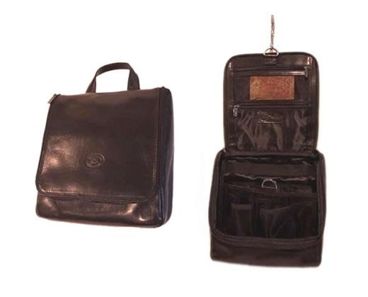 Leather Hanging Toilet Bag