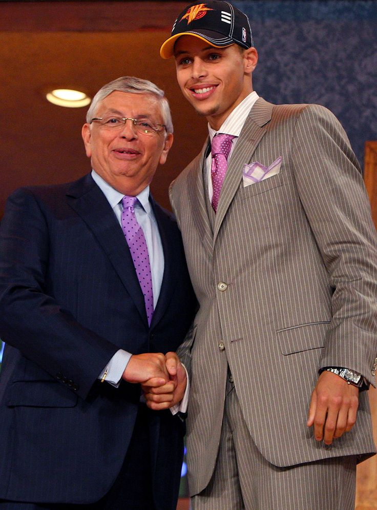 Stephen Curry and David Stern : Classic photos of Stephen Curry