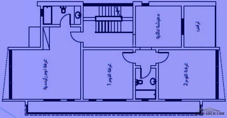فيلا البيوت البيضاء 2 Arab Arch House Plans Floor Plans How To Plan