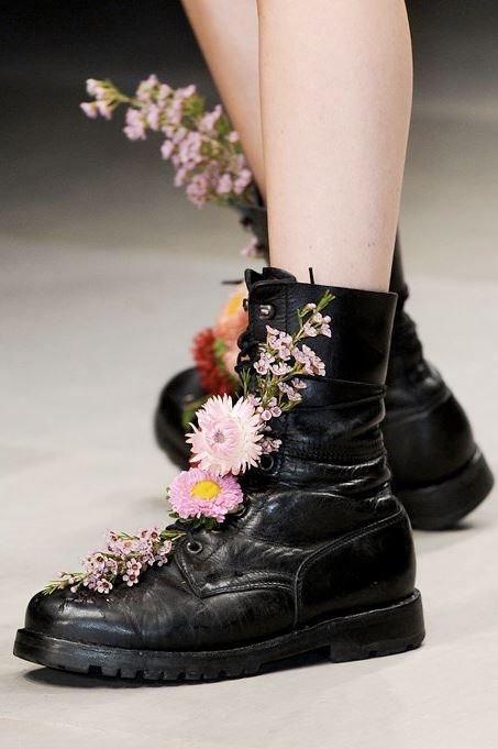Flower power boots