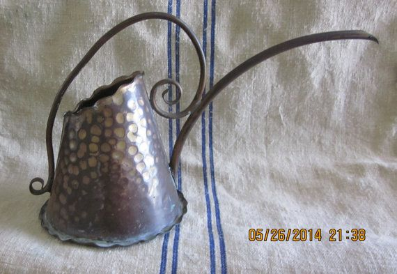 MidCentury Hand  Hammered Copper  Watering Can by angelinabella, $30.00