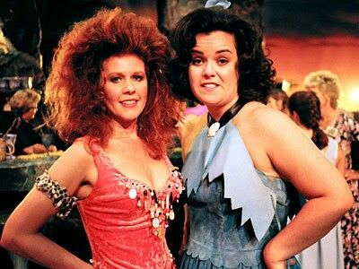 Kate Pierson Of The B 52s And Rosie ODonnell On Set