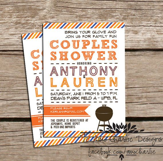 BBQ Couples Shower Invitations by TeAmoCharlie, $14.00 #softball #bbqparty #wedding
