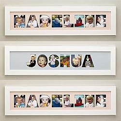 Great fun for the family photo collages. Super cute for the kids. Name Frame Photo Collage  $29.99