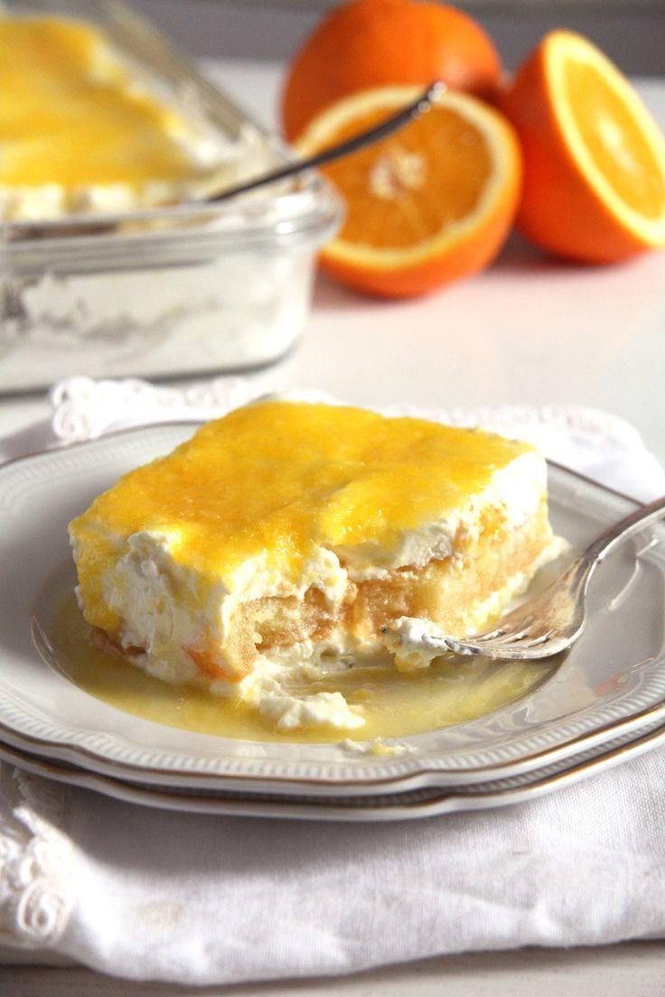 orange tirami su 683x1024 Orange Tiramisu with Mascarpone, Cream Cheese and Yogurt