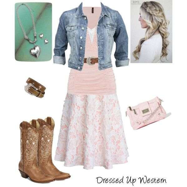 Dressed Up Western Outfit by modesty-forhisglory on Polyvore featuring American Eagle Outfitters, Modström, Chicwish, M&F Western, Blazin Roxx, Nocona and maurices