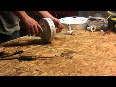 how to turn a ceiling fan into a generator