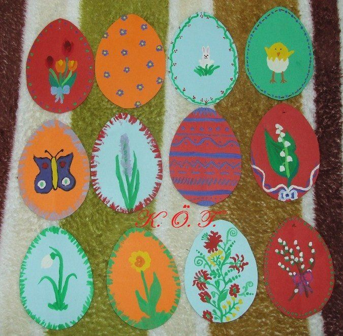 Festett húsvéti tojások / painted easter eggs