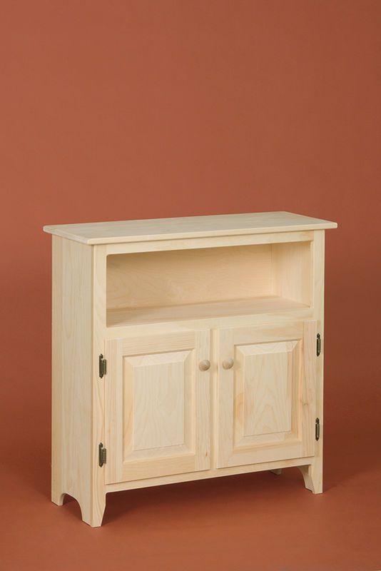 Two Door Hunt Board Cabinet · Unfinished Pine FurnitureCabinetsClosetsWall  ...
