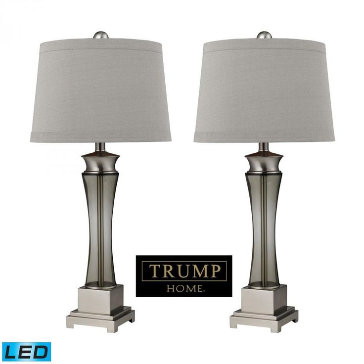 Lamps By Dimond Trump Home Onassis LED Table Lamps in Nickel Finish - Set of 2 D2339/s2-LED