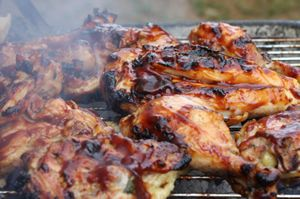 Honey BBQ Chicken, Patriotic  4th of July Fun Foods  Creative Cuisine