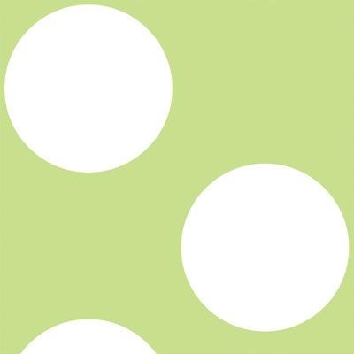 WallCandy Arts Polka Dot Wallpaper in Green and White