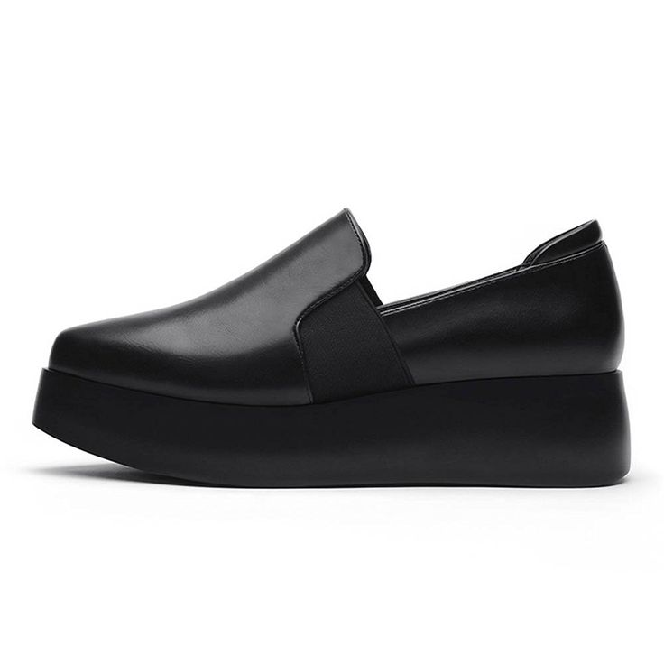 Women's Pointed Shoes Retro Oxford Shoes Heavy-Bottomed Shoes >>> For more information, visit image link.