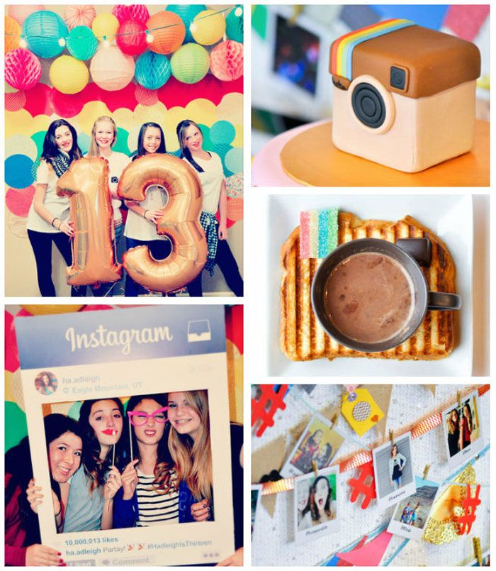 Glam Instagram Themed 13th Birthday Party via Kara's Party Ideas