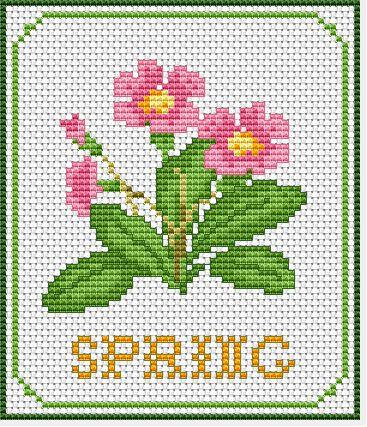 Spring Free Cross Stitch Pattern free cross stitch pattern