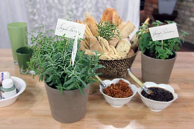Potted herbs or plants?Plants, Pots Herbs, Center Piece,  Flowerpot
