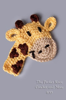 Crochet Giraffe Applique Inspiration. You can buy the pattern for this.