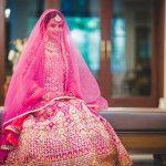 Pretty Punjabi Wedding With Lots of Fuchsia Details!