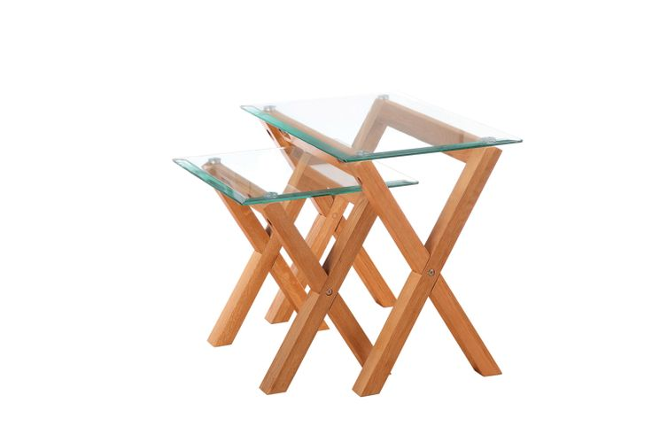 Cadiz Nest of 2 Tables  Large table dimensions:  L660mm x W415mm x H540mm Medium table dimensions:  L460mm x W415mm x H450mm
