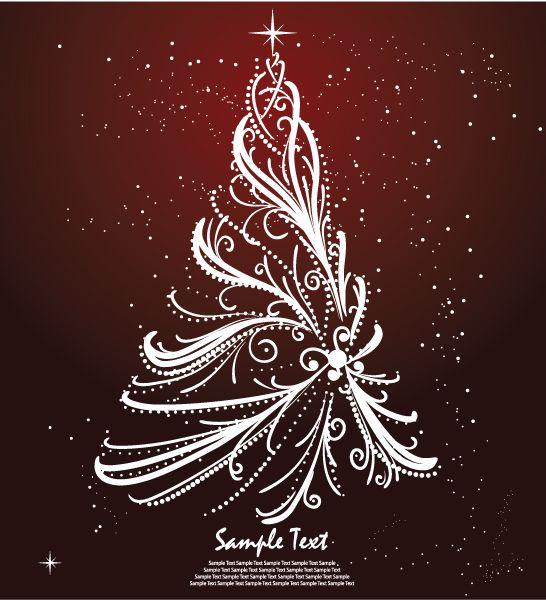 Christmas Tree: Christmas Inspiration, Vector Illustrations, Christmas Decoration, Christmas Design, Free Vector, Christmas Idea, Free Christmas, Christmas Card, Christmas Trees