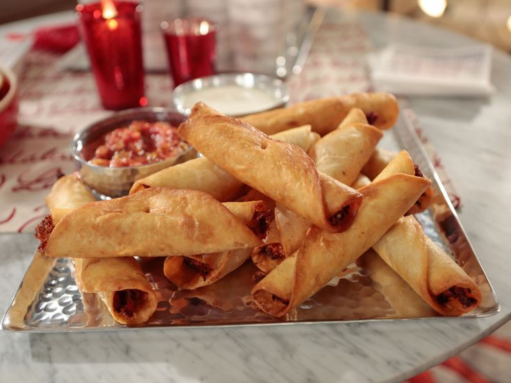 Crispy Chicken Taquitos recipe from Giada De Laurentiis via Food Network