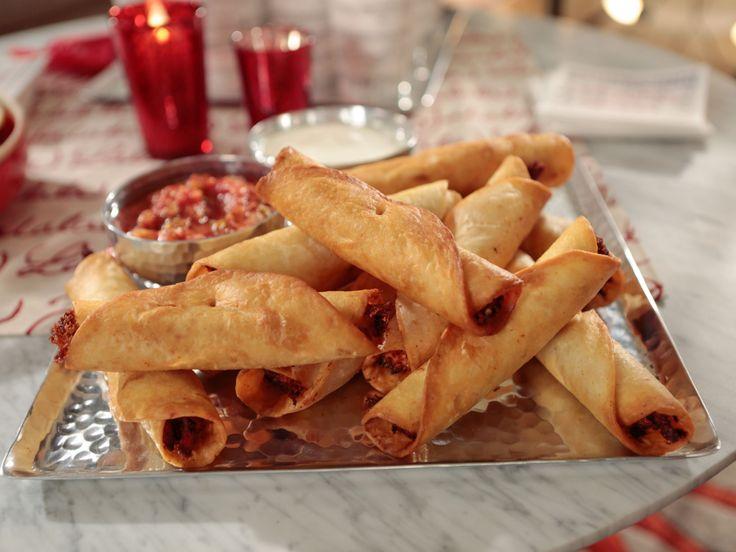 Crispy Chicken Taquitos recipe from Giada De Laurentiis via Food Network