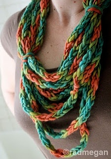 Viking Crafts: A Lucetted Necklace/Scarf. Unique and creatively flexible. Love.