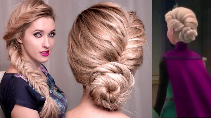 If you love Frozen's Elsa and her hairstyles, here's another hair tutorial inspired by her looks. It's a twisted updo, big messy fishtail braid and braided h...
