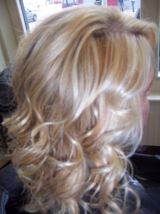 blonde & caramel highlights. find me on facebook