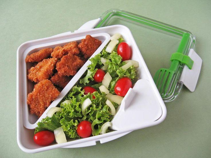Moha Konyha: Bento box-bento doboz 9 panírozott csirkemell salátával