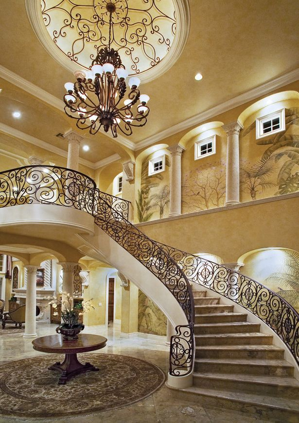 Dome ceiling arches flex trim curved molding elegant - Classy images of cool staircase design ...