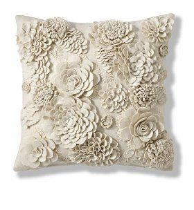 3D Delicate Flower Cushion, pretty.#anthropologie#pintowin