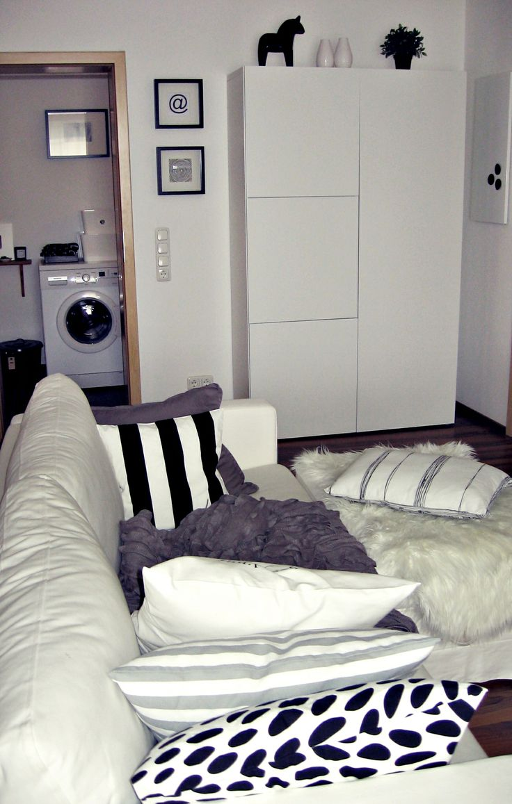 Wohnzimmer Bad Weiss Grau Schwarz Ikea