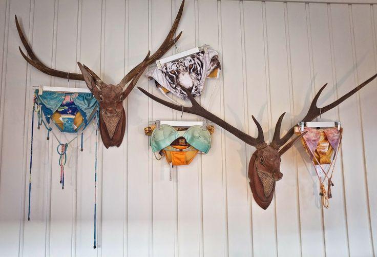 south of the border cronulla interior secrets, wooden deer, carved deer, deer head, antlers