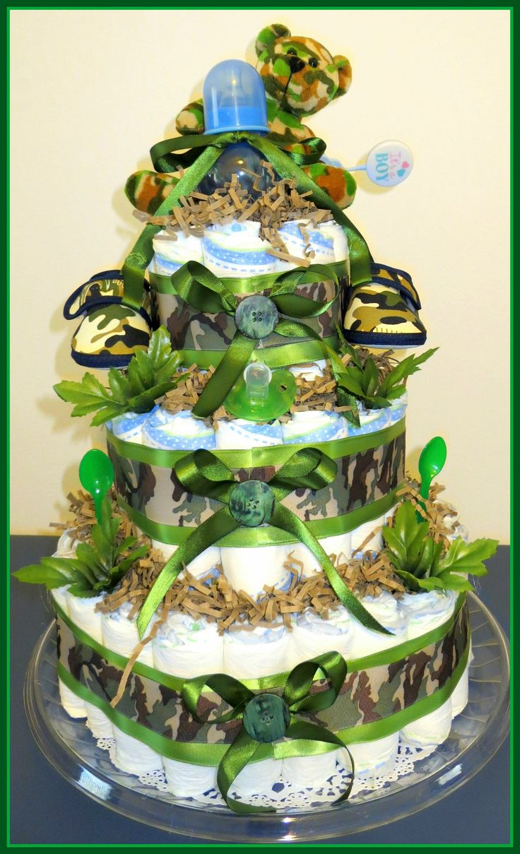 48 Best Baby Stuff Images On Pinterest Shower Diapers Camo Sweety Popok Bayi Comfort Gold Tape M Boy Camouflage Diaper Cake By Sweet Moments Custom Made Maria