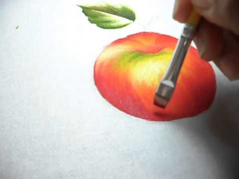 Pintura em tecido - vídeo aula de folhas - YouTube