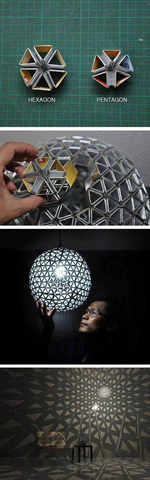 Awesome cardboard lamp.