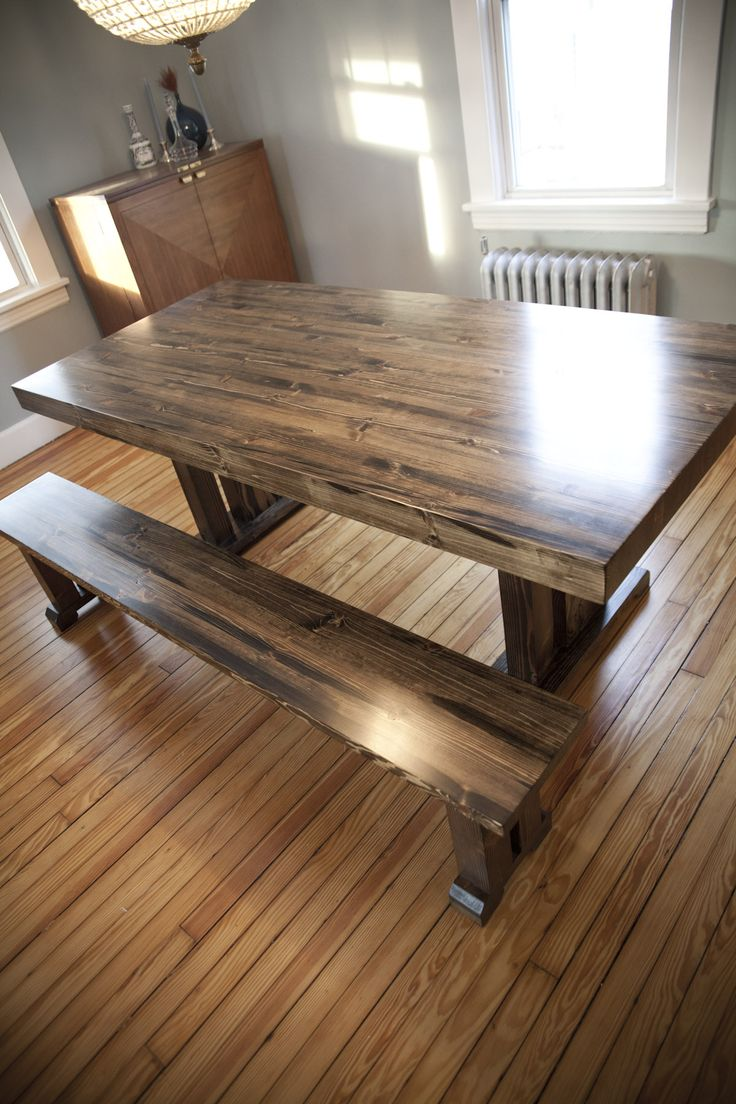 Farmhouse Table With Butcher Block Top 28 Planks Make Up