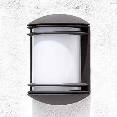 Aplique exterior negro dublin 1luz e27 100 w Apliques exterior homecenter.com.co